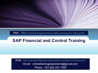 SAP FICO Training - SAP FICO Online Training - SAP FICO Course
