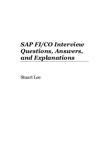 Sap fico interview_questions_answers_explanations