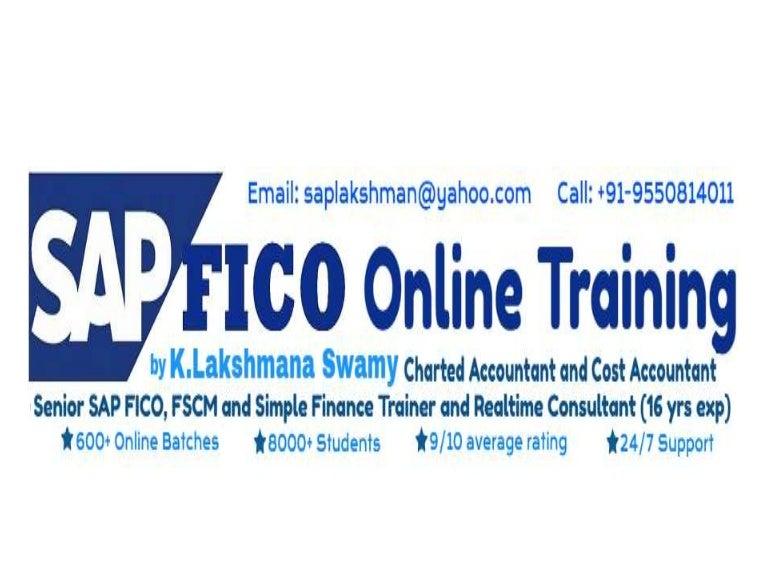 Sap Fico Training Sap Fico Syllabus - Resume Examples