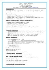 sap fico resume