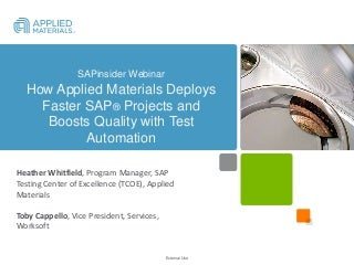 Sap projects linkedin how applied materials deploys faster sap projects and boosts quality sciox Choice Image