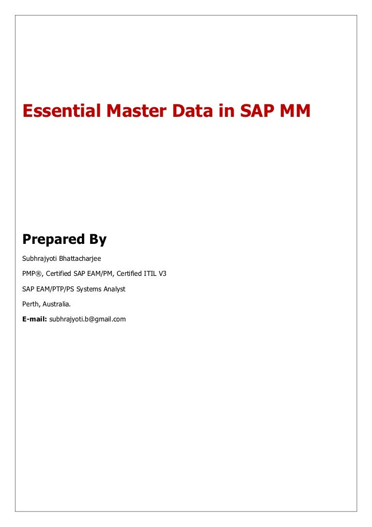 Sap mm essential master data xflitez Image collections