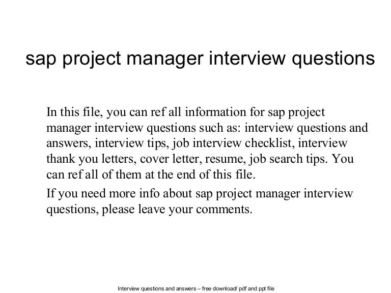 project coordinator sample interview questions