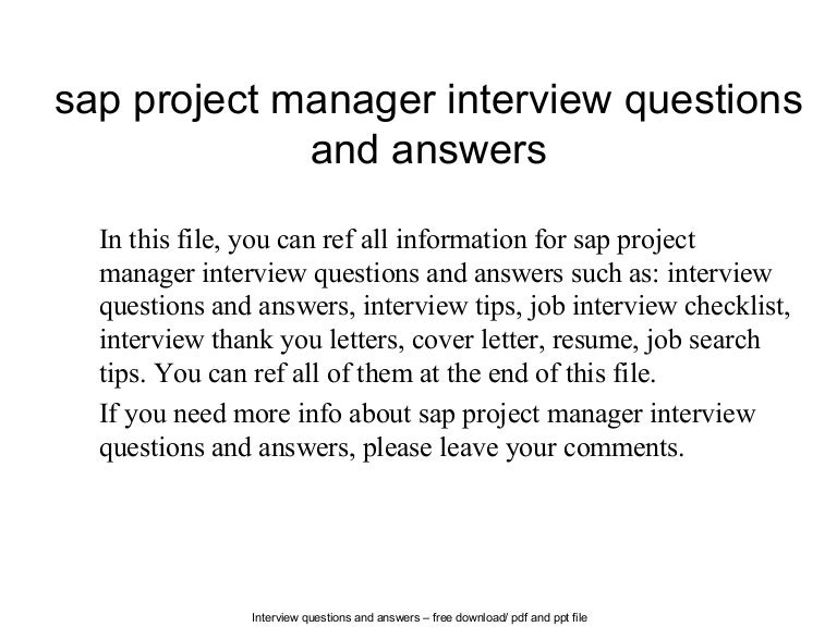 Sap project manager interview questions and answers sapprojectmanagerinterviewquestionsandanswers 140626043340 phpapp02 thumbnail 4gcb1403763721 expocarfo Gallery