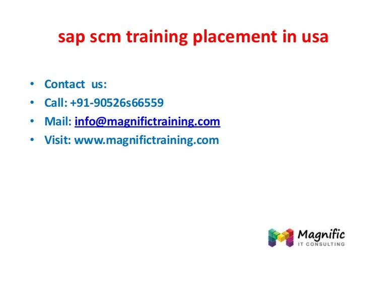Sap scm training placement in usa