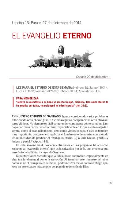Lección Escuela Sabática 13 27DIC2014 El Evangelio Eterno