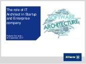 The Role of IT Architect in Enterprise Company