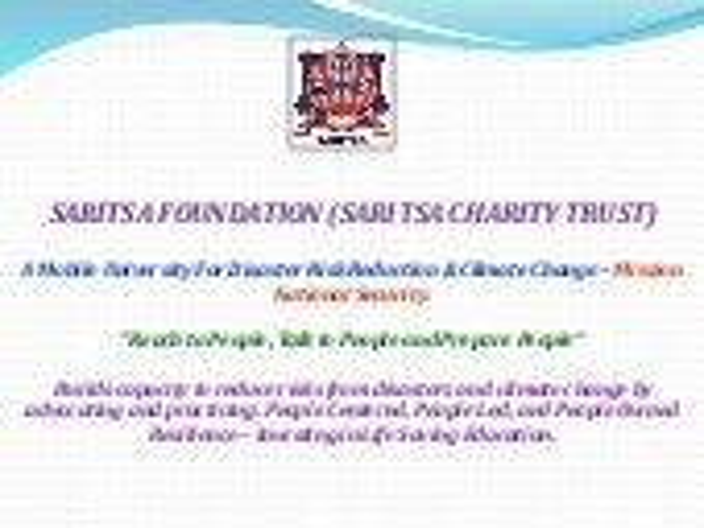 Saritsa foundation prepares old people of aasha daan, mumbai for disasters.
