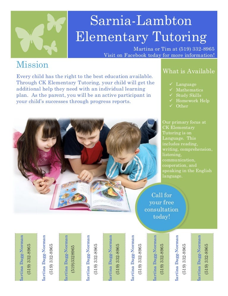Cool Tutoring Flyers Templatestutoring Flyer Taglines For