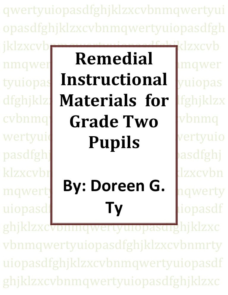 Instructional Materials For Grade Two Pupils