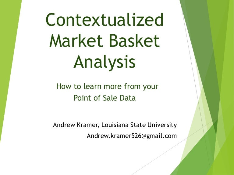 Market Basket Analysis in SAS