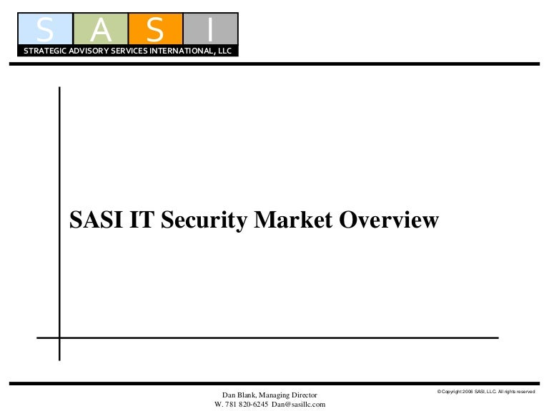 Sasi it security market overview 3 15