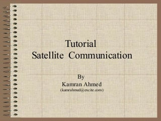 Satellite communication (a tutorial)
