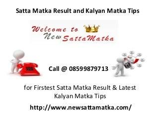Satta Matka Result and Kalyan Matka Tips