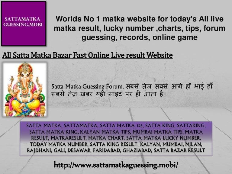 Satta online chart