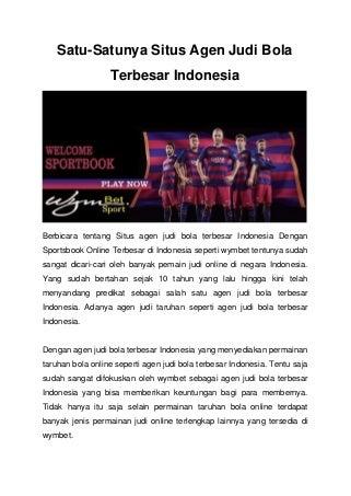 agen judi slot indonesia