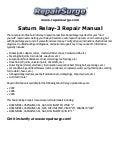 saturn relay 2 repair manual 2005 2007 rh slideshare net Saturn Aura 2005 saturn relay repair manual
