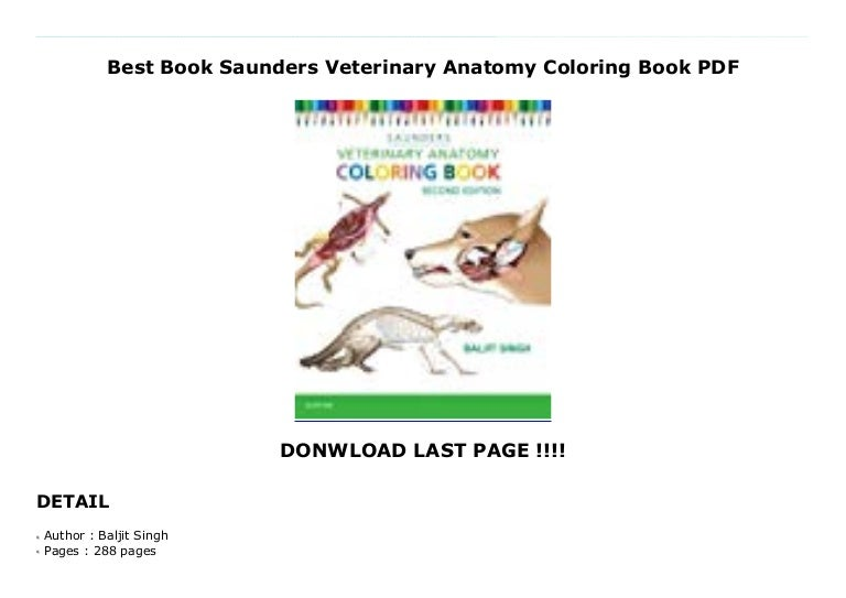 - Best Book Saunders Veterinary Anatomy Coloring Book PDF