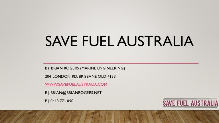 Save fuel Australia oil additives Australia