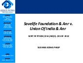 Savelife foundation and; anr vs union of india and anr