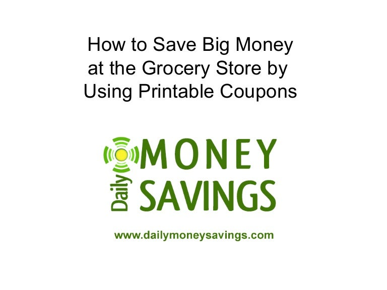Saving Money Using Printable Coupons