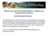 How to win ex boyfriend back long distance