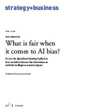 What is fair when it comes to AI bias?