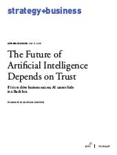 The Future of Artificial Intelligence Depends on Trust