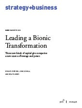 Leading a Bionic Transformation