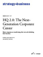 HQ 2.0: The Next-Generation Corporate Center