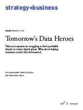 Tomorrow's Data Heros