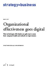 Organizational effectiveness goes digital