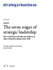 The seven stages of strategic leadership