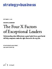The Four X Factors of Exceptional Leaders
