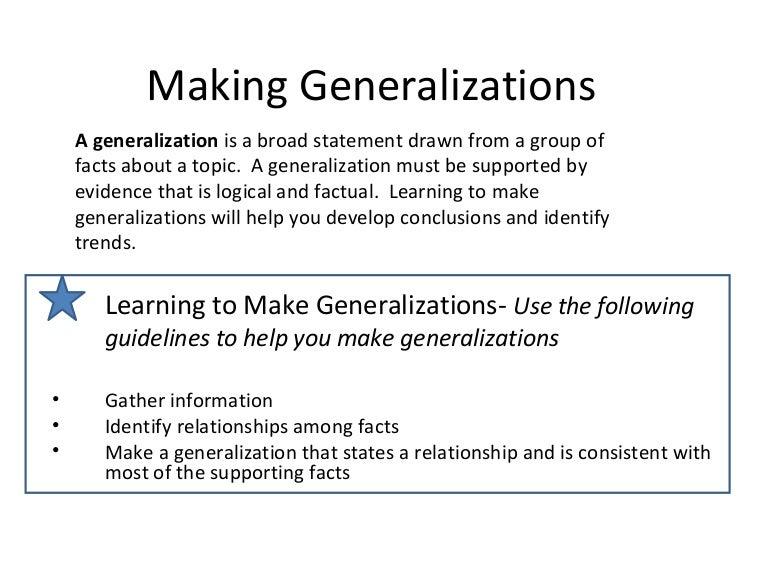 generalization psychology
