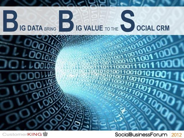Big data bring big value to the Social CRM