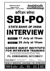 Bank Clerk-PO Exam 2013 Basic Interview Questions With Answers