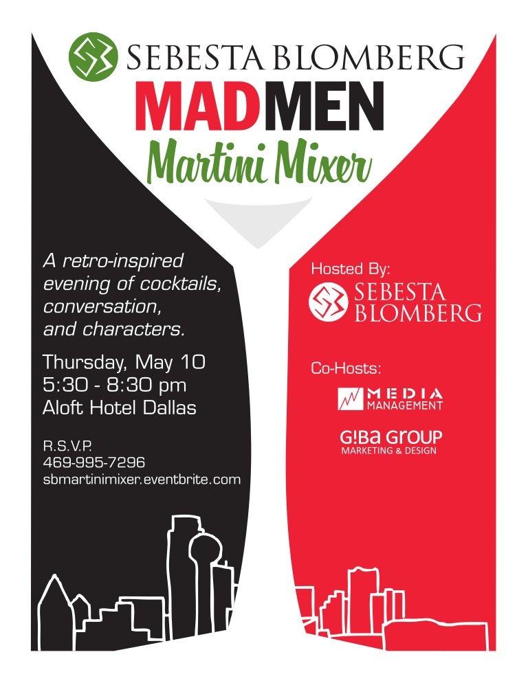 Mad Men Martini Mixer Invitation