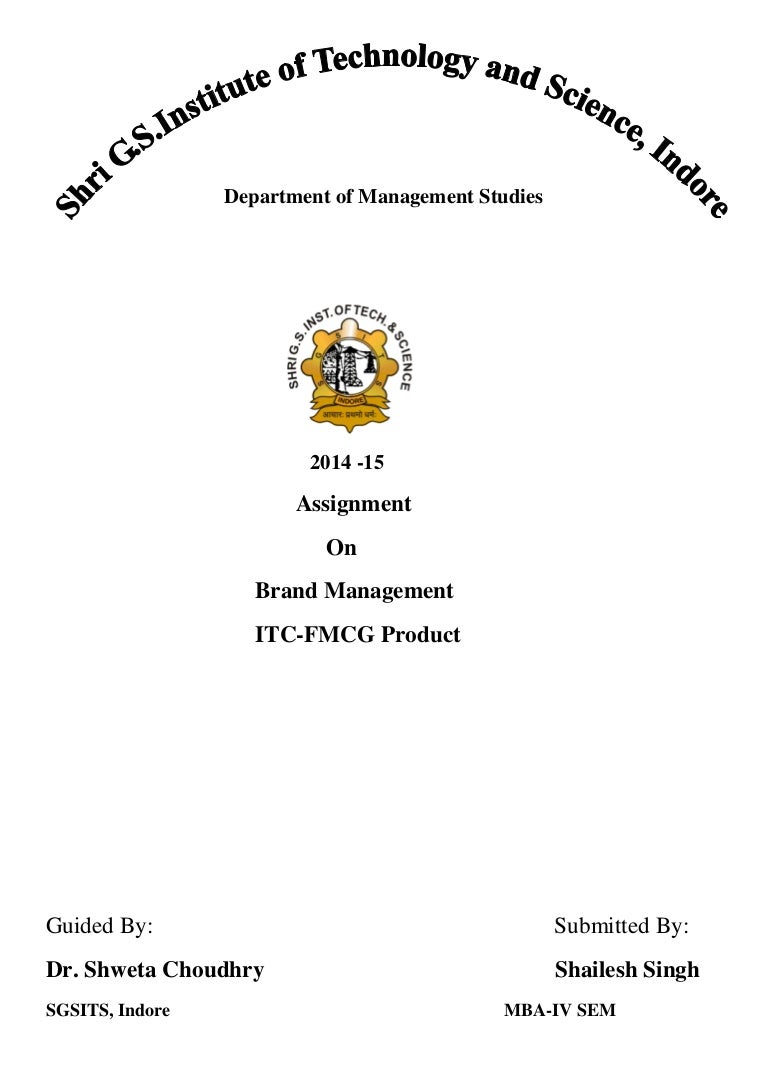 brand management itc fmcg assignment