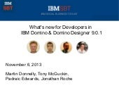 What's new for Developers in IBM Domino & Domino Designer 9.0.1