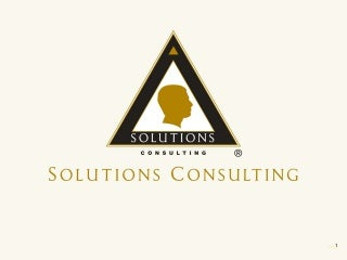 Solutions Consulting Brief Corporate Presentation