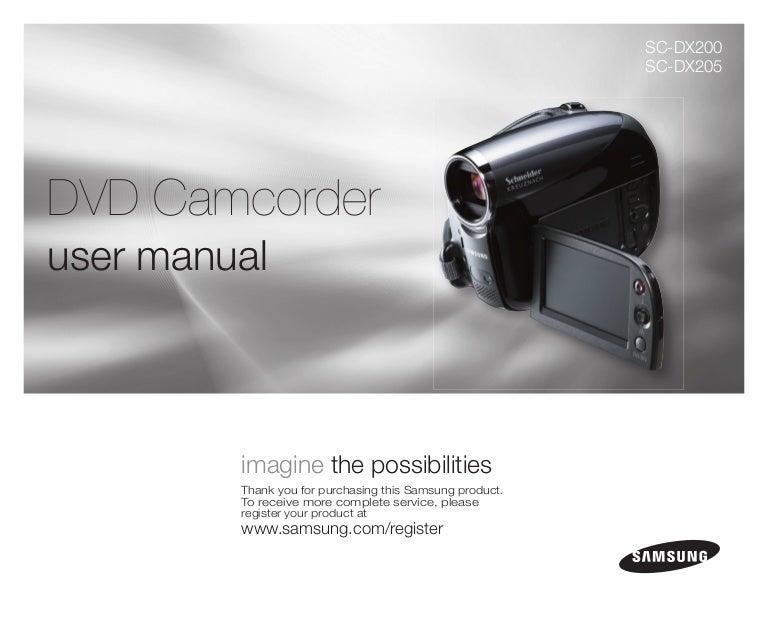 samsung camcorder sc dx200 user manual rh slideshare net