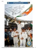 Well Crafted Social Media Campaign : Sachin Tendulkar Autograph