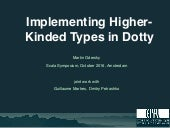 Implementing Higher-Kinded Types in Dotty