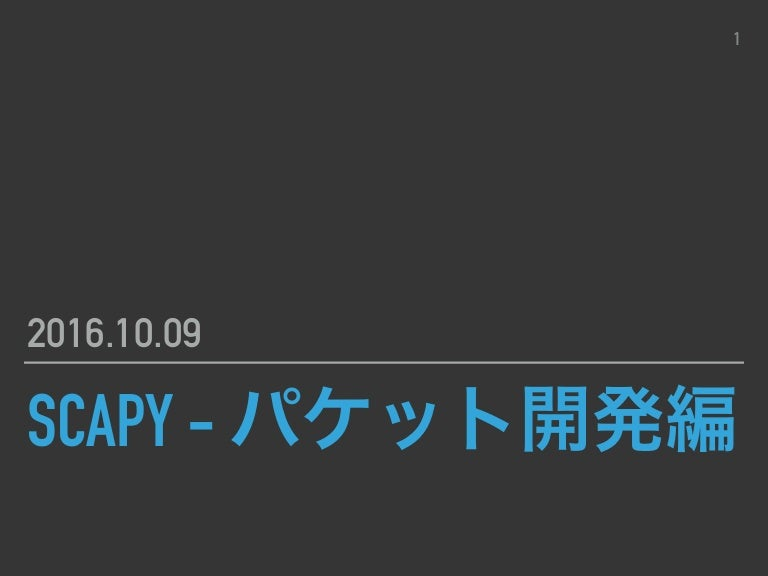 Scapy the packet 途中01
