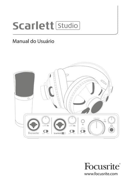 Manual da interface Focusrite Scarlett 2i2 (PORTUGUÊS)