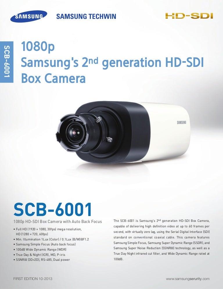 Samsung Techwin SCB-6001 Data Sheet