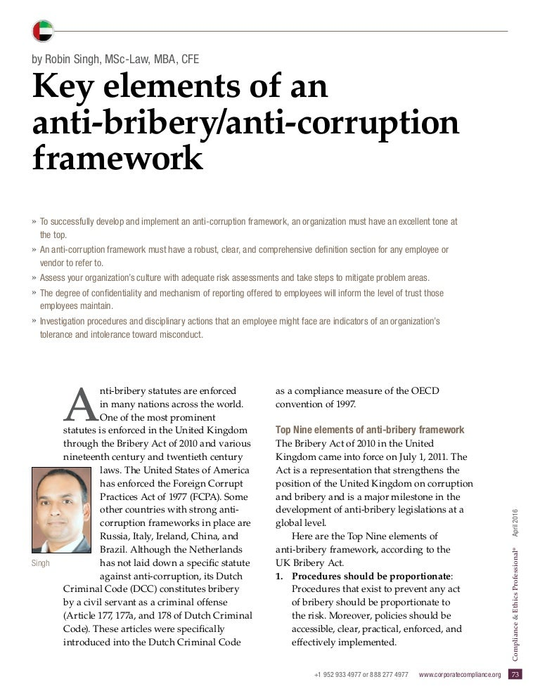 Commercial bribery: concept and main aspects