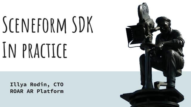 Sceneform SDK на практиці - UA Mobile 2019