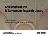 Challenges of the Rijksmuseum Research Library
